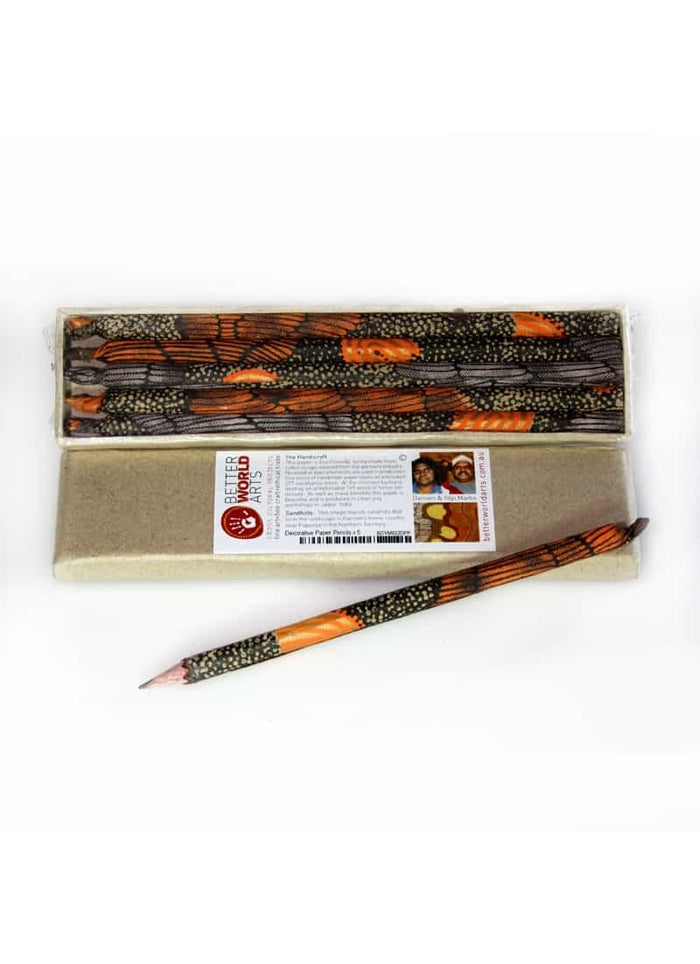 Decorative Paper Pencil Pack - Damien and Yilpi Marks