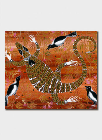 Melanie Hava Art Card - Attack of the Magpies