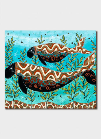 Melanie Hava Art Card - Dugong and Calf