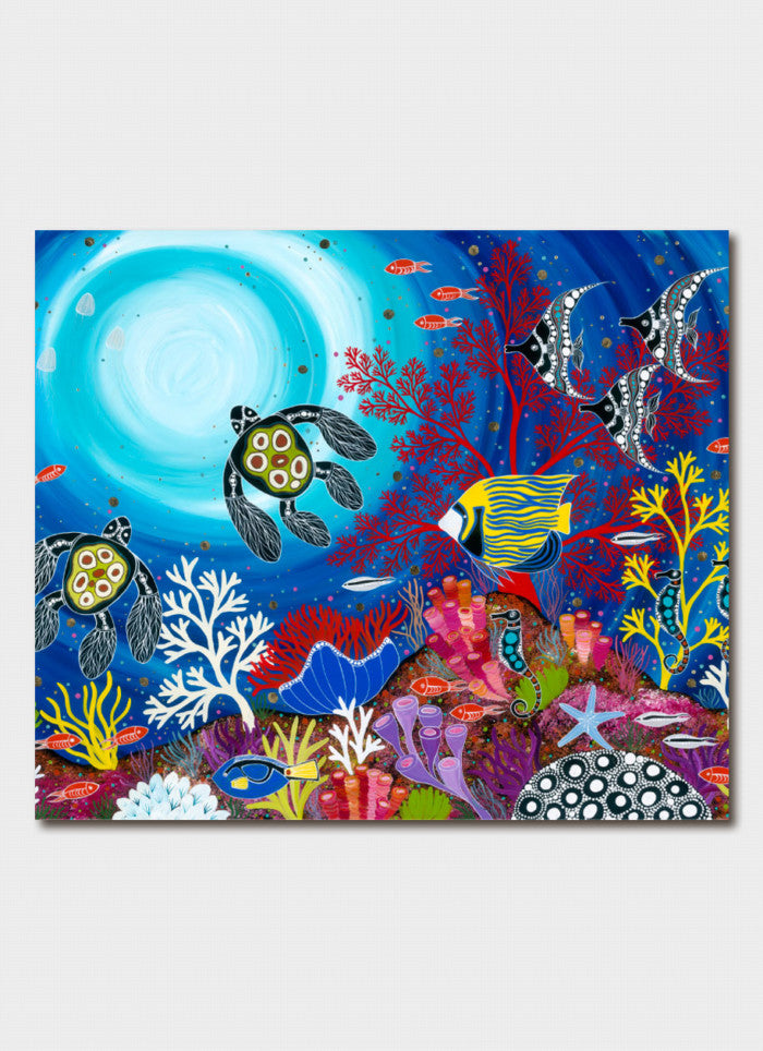 Melanie Hava Art Card - A Reef in Wonderland
