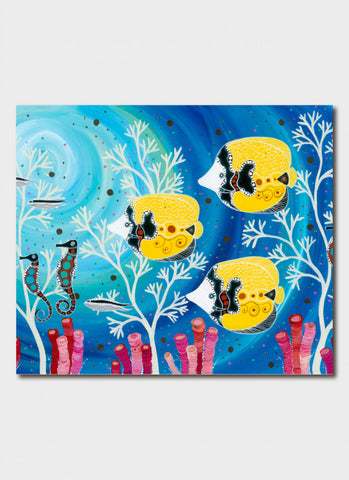 Melanie Hava Art Card - Butterfly Fish