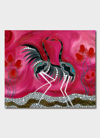 Melanie Hava Art Card - Dancing by the Waratahs
