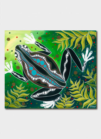 Melanie Hava Art Card - Green Tree Frog