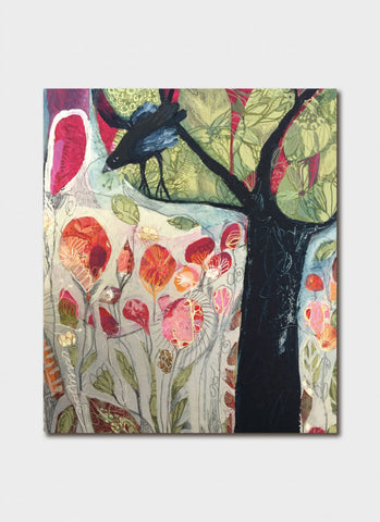 Anthea Stead Art Card - Flowers and Tree