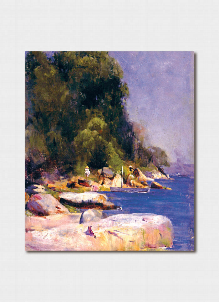Australian Impressionism  Art Card -  Arthur Streeton's From My Camp (Sirius Cove)