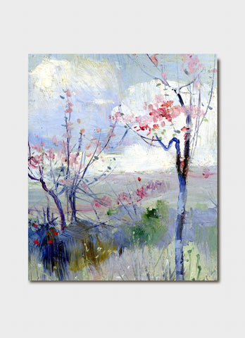 Australian Impressionism Art Card -  Charles Conder's Herrick's Blossoms