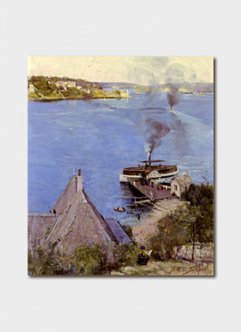 Australian Impressionism -  From McMahon's Point Fare One Penny