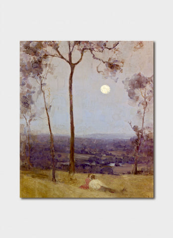 Australian Impressionism  Art Card -  Arthur Streeton's Above Us the Great Grave Sky