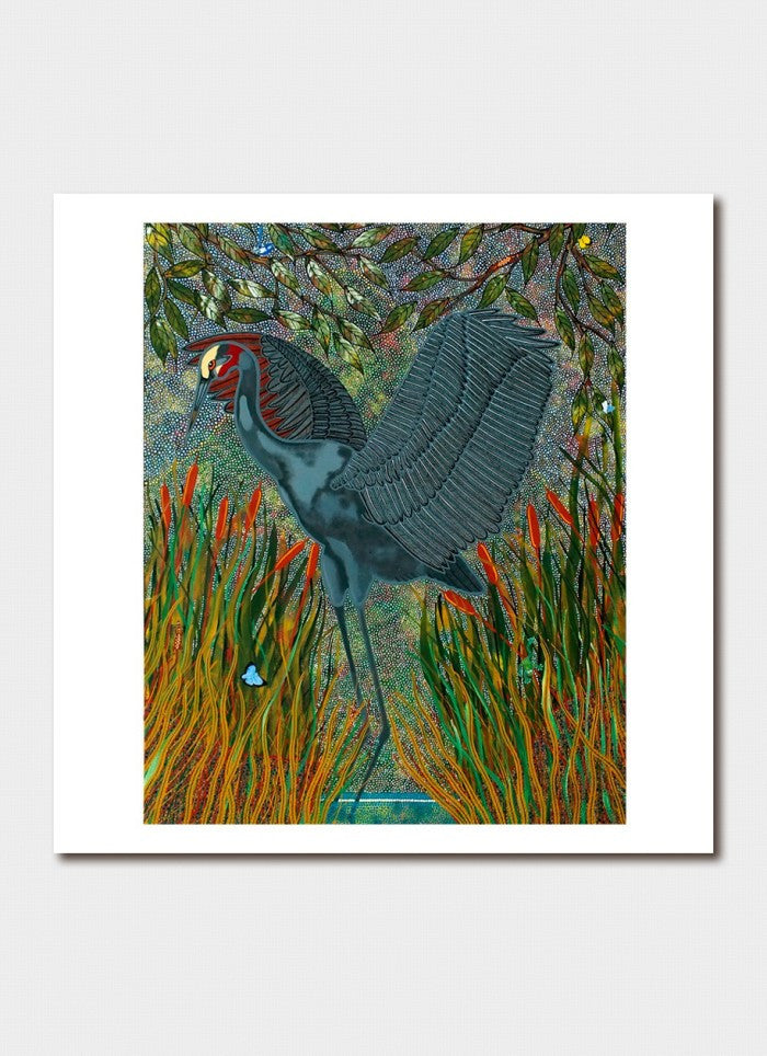Oral James Roberts - Brolga in the Reeds