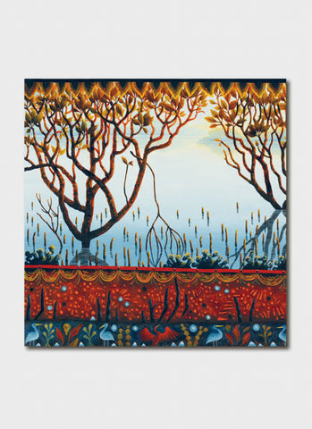 Annie Franklin Art Card - Mud & Mangroves Detail