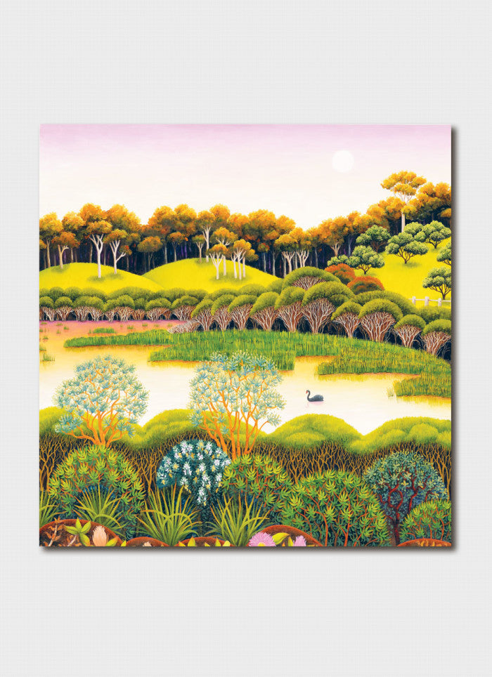 Annie Franklin Art Card - Long Swamp Looking South
