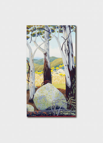 Annie Franklin Art Card - Granite & Lichen