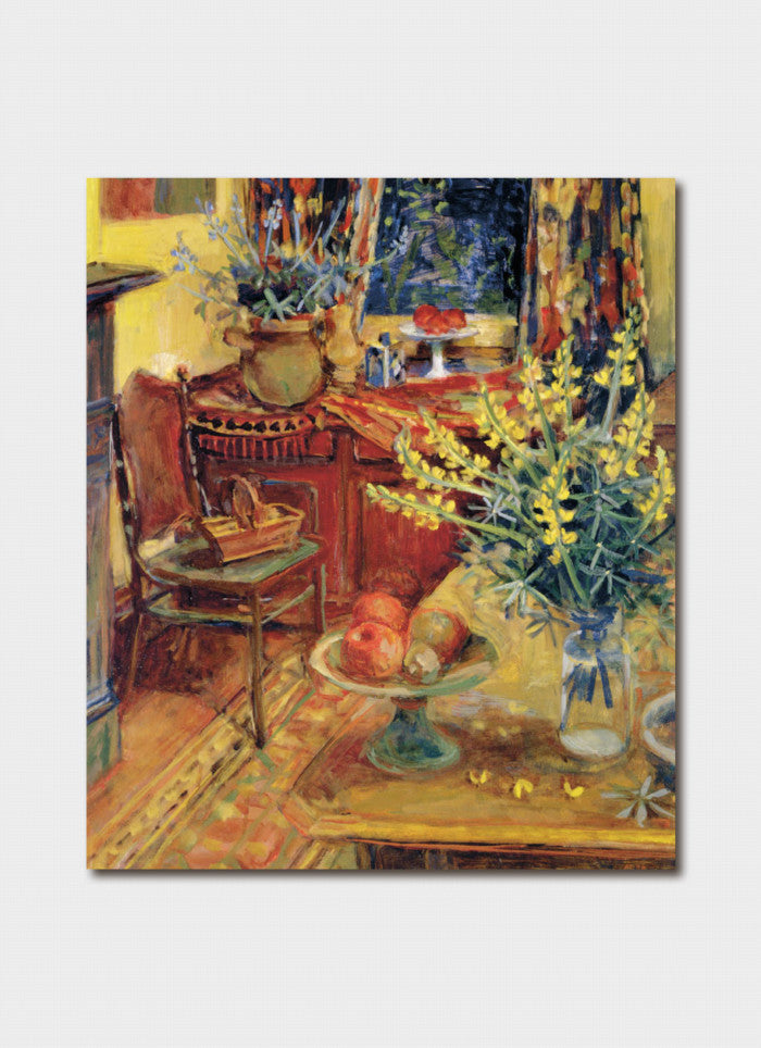 Margaret Olley - Yellow Lupins in Interior
