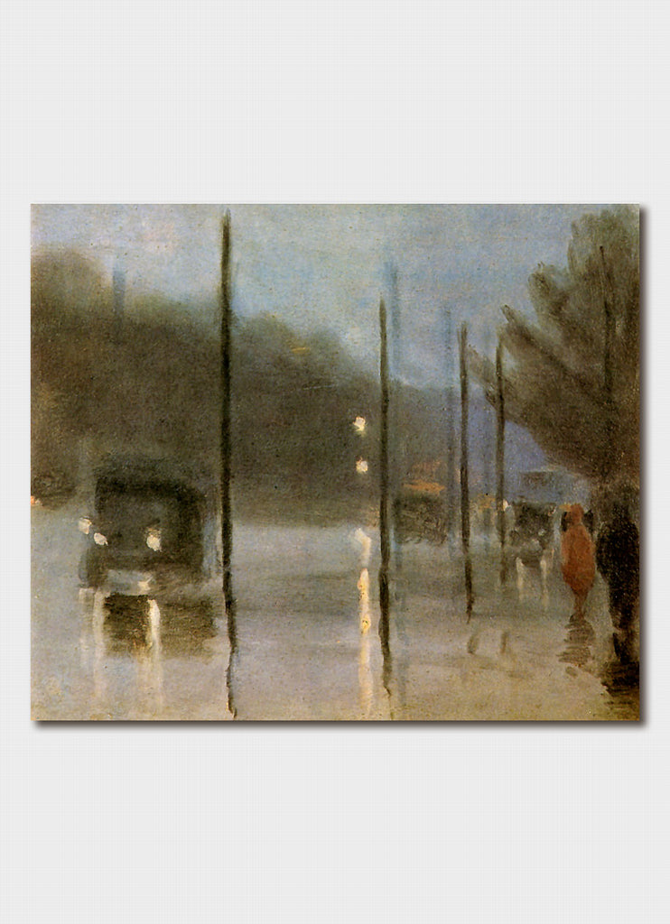 Clarice Beckett - Rainy Evening, City