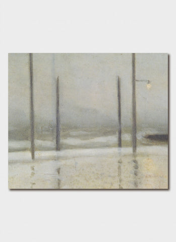 Clarice Beckett Art Card - Wet Night, Brighton