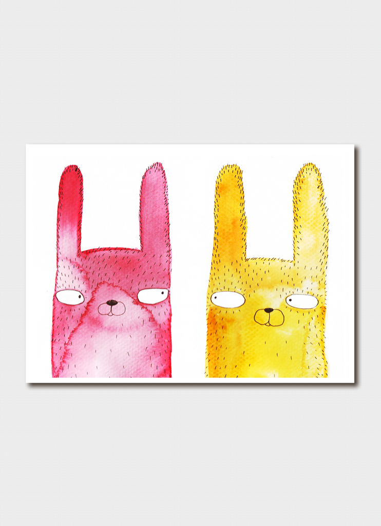 Luka Va - Pink and Yellow Rabbits
