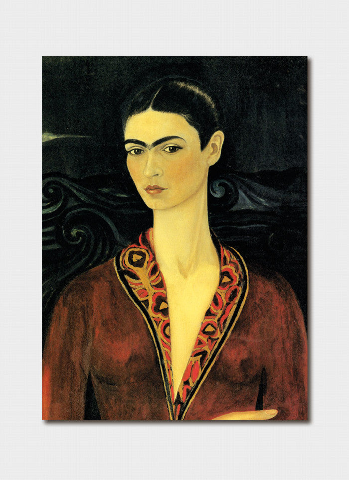 Frida Kahlo - Self Portrait Wearing a Velvet Dress