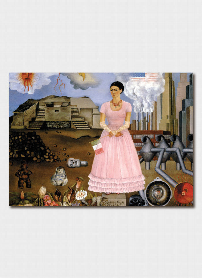 Frida Kahlo - Self Portrait on the Borderline between Mexico & the United States