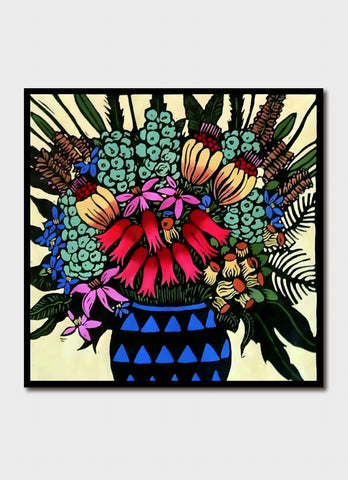 Jude Rose art card - the Blue Vase
