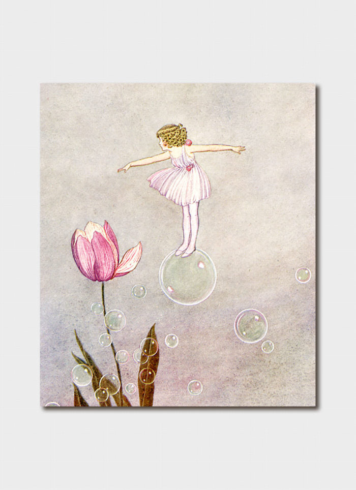 Ida Rentoul Outhwaite art card - Sylvie in her Fairy Frock