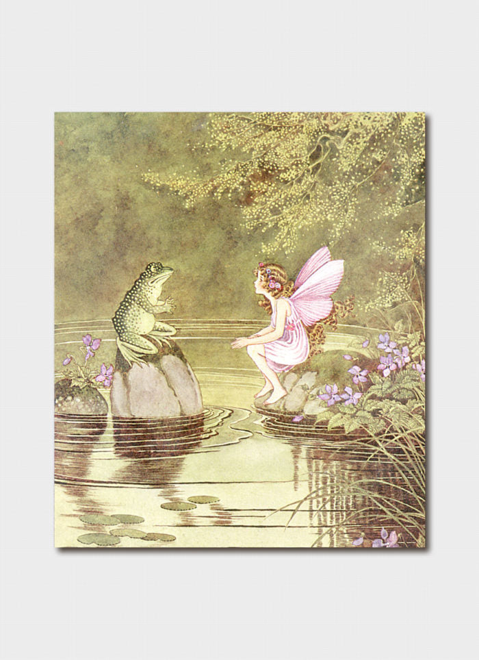 Ida Rentoul Outhwaite art card - I am Kexy Friend of Fairies