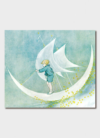 Ida Rentoul Outhwaite art card - Moonboat