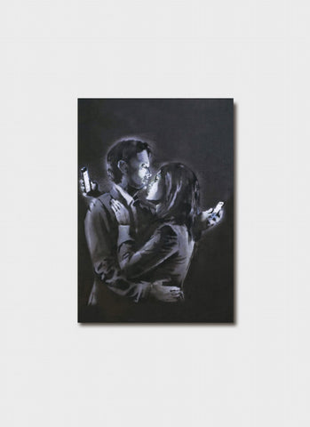 Banksy card - Mobile Phone Lovers