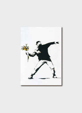 Banksy card - Flower Thrower
