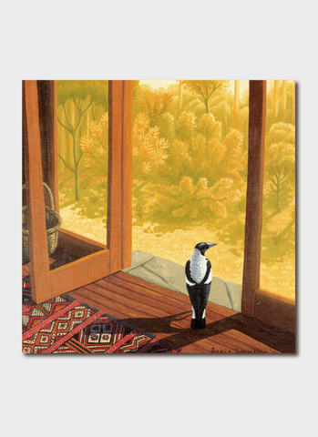Annie Franklin Art Card - Autumn Morning With Magpie