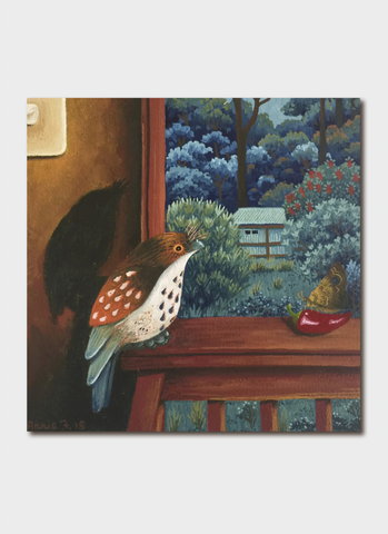 Annie Franklin Art Card - Summer Evening With Frogmouth