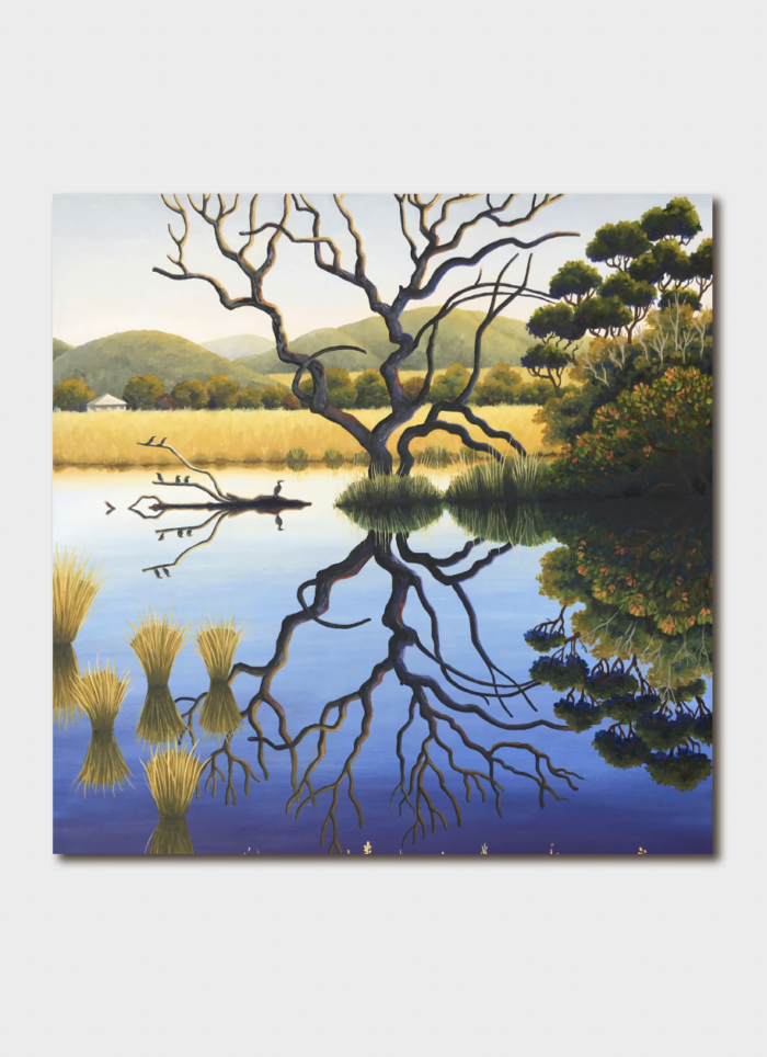 Annie Franklin Art Card - Early Mornings Pamboola Wetlands