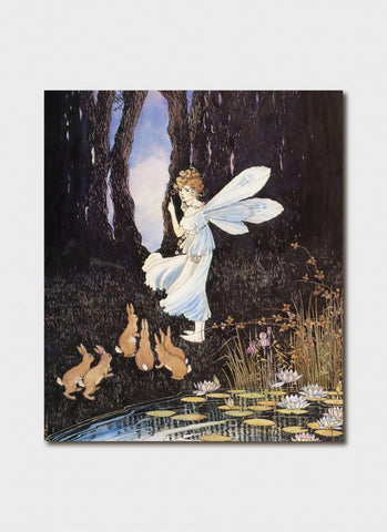 Ida Rentoul Outhwaite art card - The Secret Pool