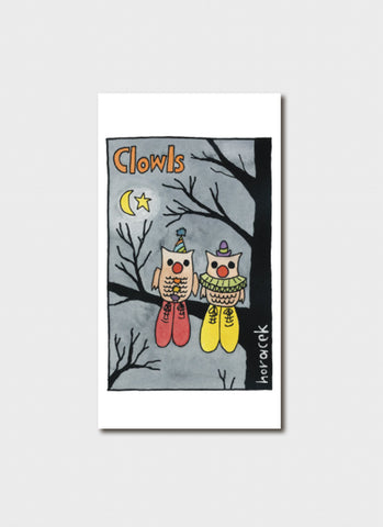 Judy Horacek cartoon card - Clowls