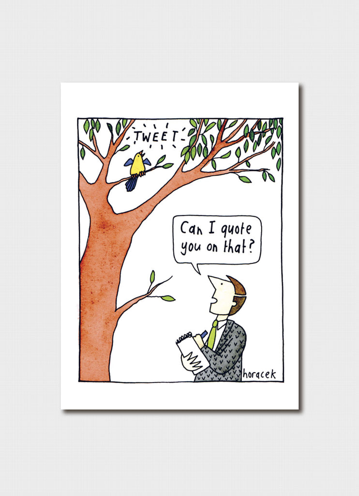 Judy Horacek cartoon card - Tweet