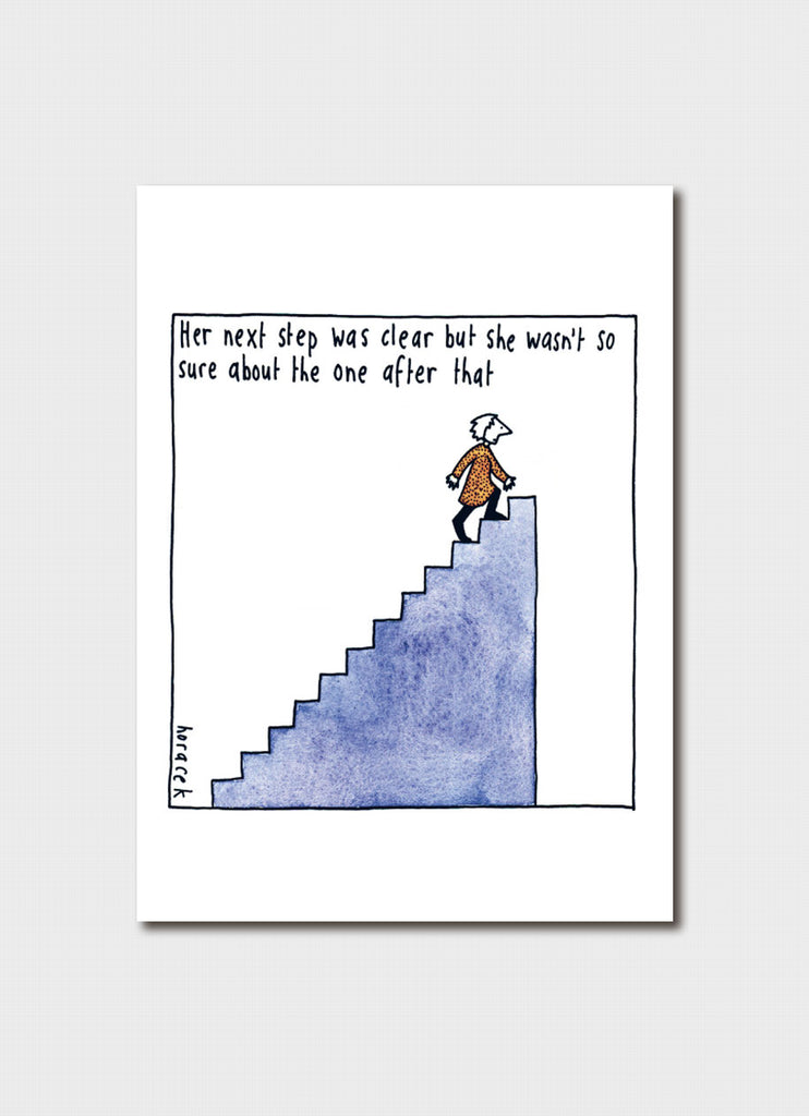 Judy Horacek cartoon card - The Next Step
