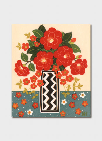 Kate Hudson art card - Camellia and Japonica