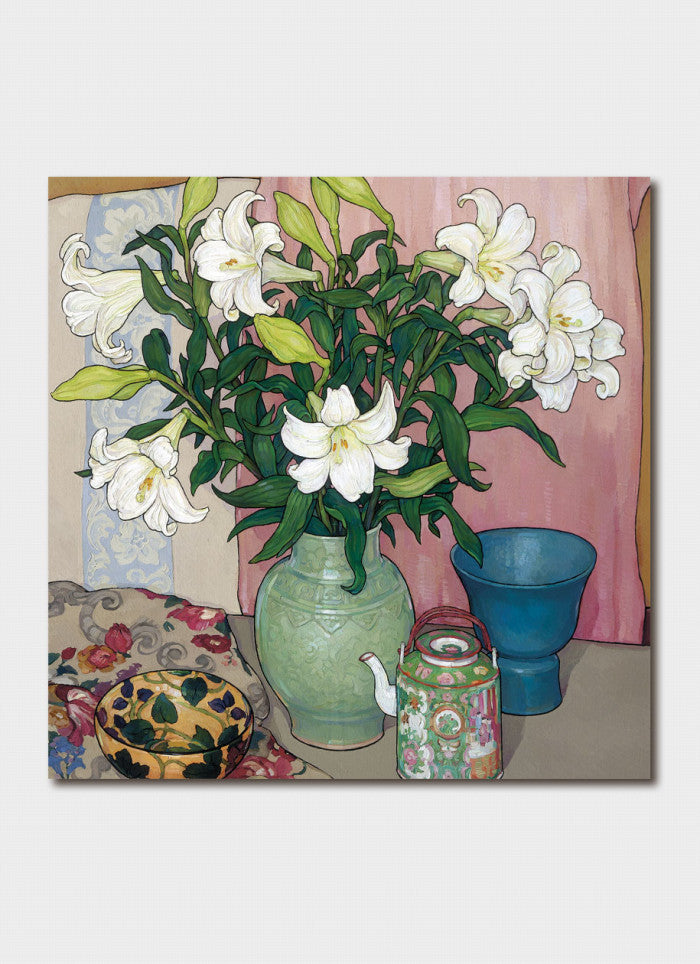 Criss Canning Art Card - White Lillies