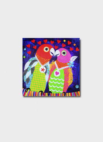 Donna Sharam small art card - Love Birds