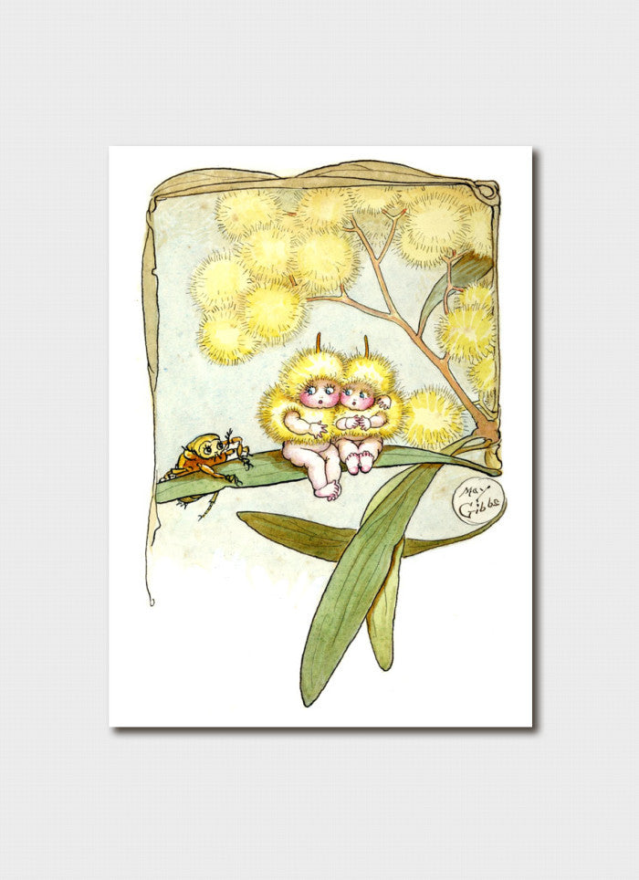 May Gibbs Art Card - 'Wattle Babies' front cover