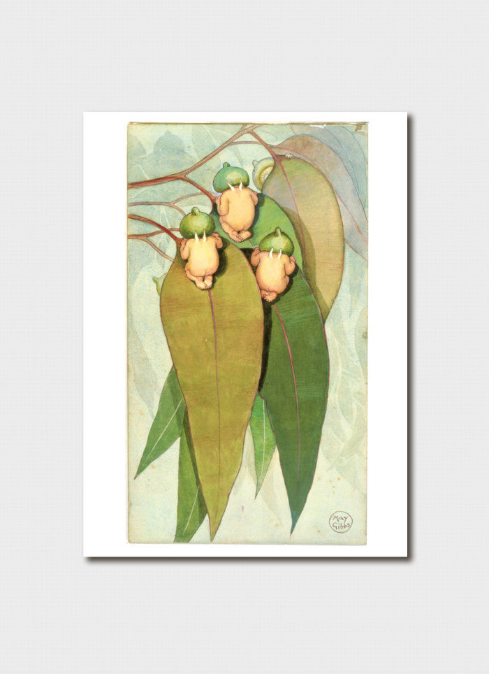 May Gibbs Art Card - 'Gumnut Babies' front cover