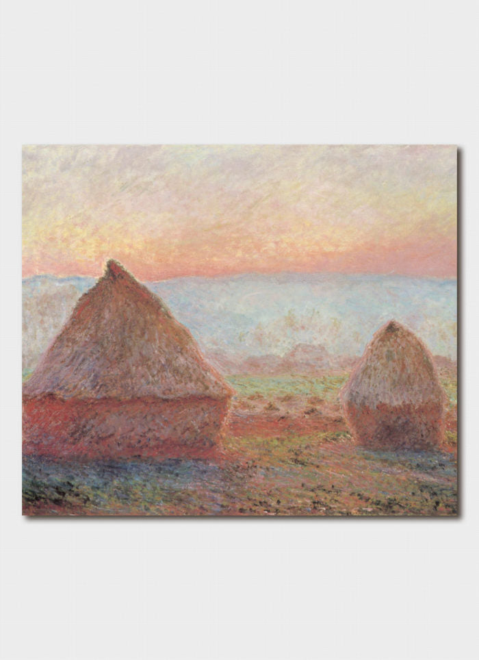Monet art card - Haystacks at Giverny, the Evening Sun