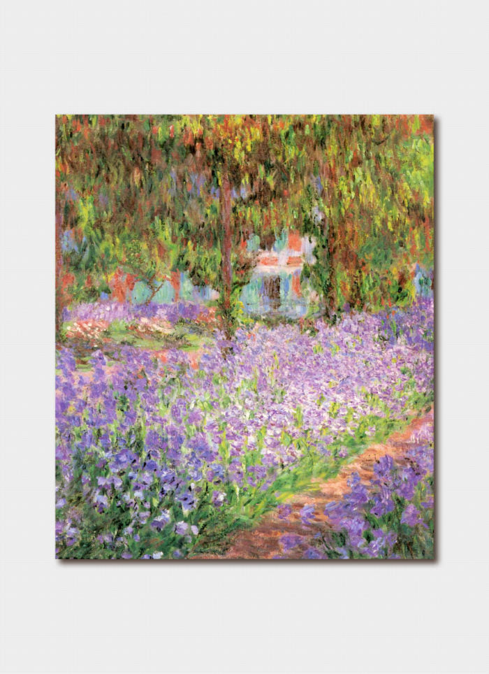 Monet art card - Irises in Monet's Garden