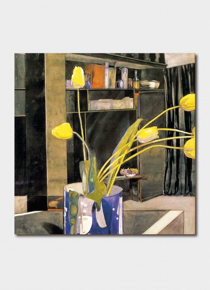 Charles Rennie Mackintosh Art Card - Yellow Tulips