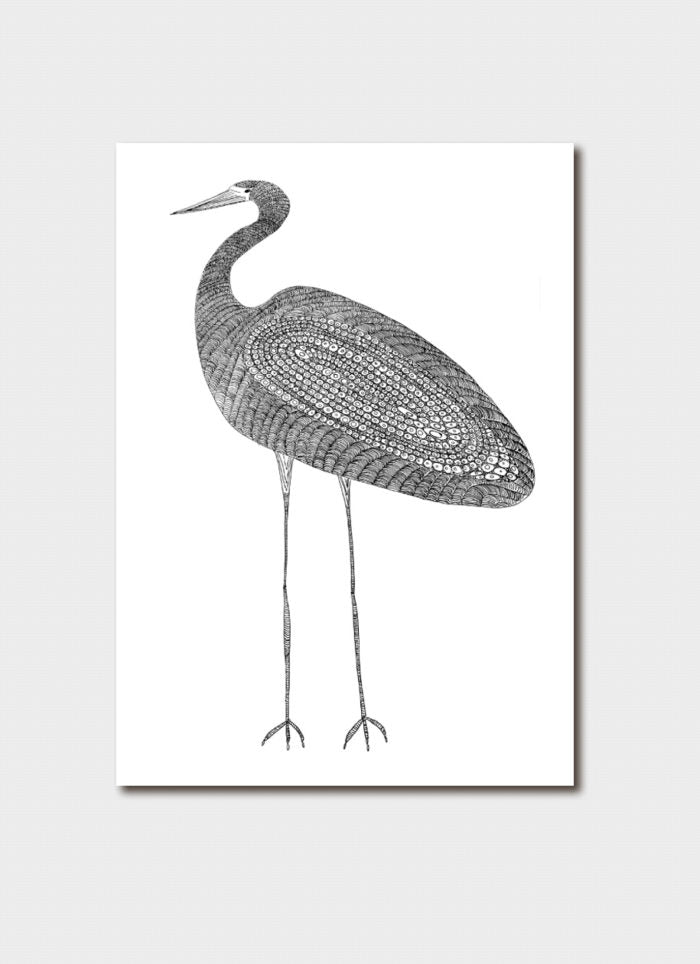 Delvene Cockatoo-Collins Art Card - Heron