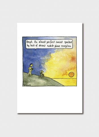 Judy Horacek cartoon card - Almost Perfect Sunset (New!)