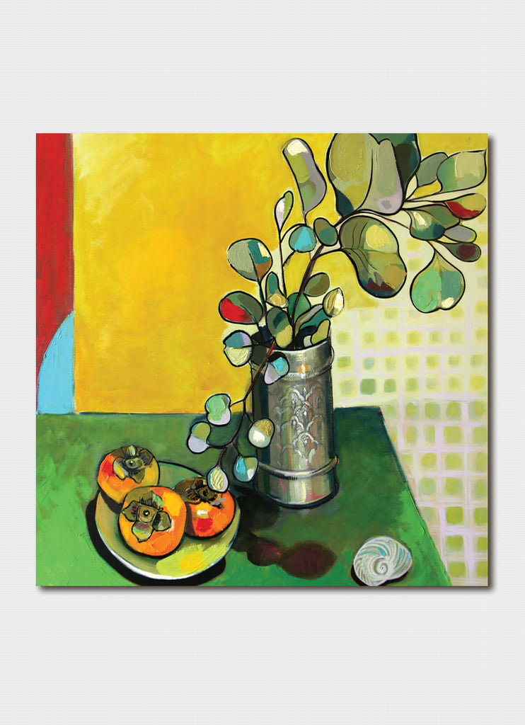 Paloma White art card - Eucalypts and Persimmons