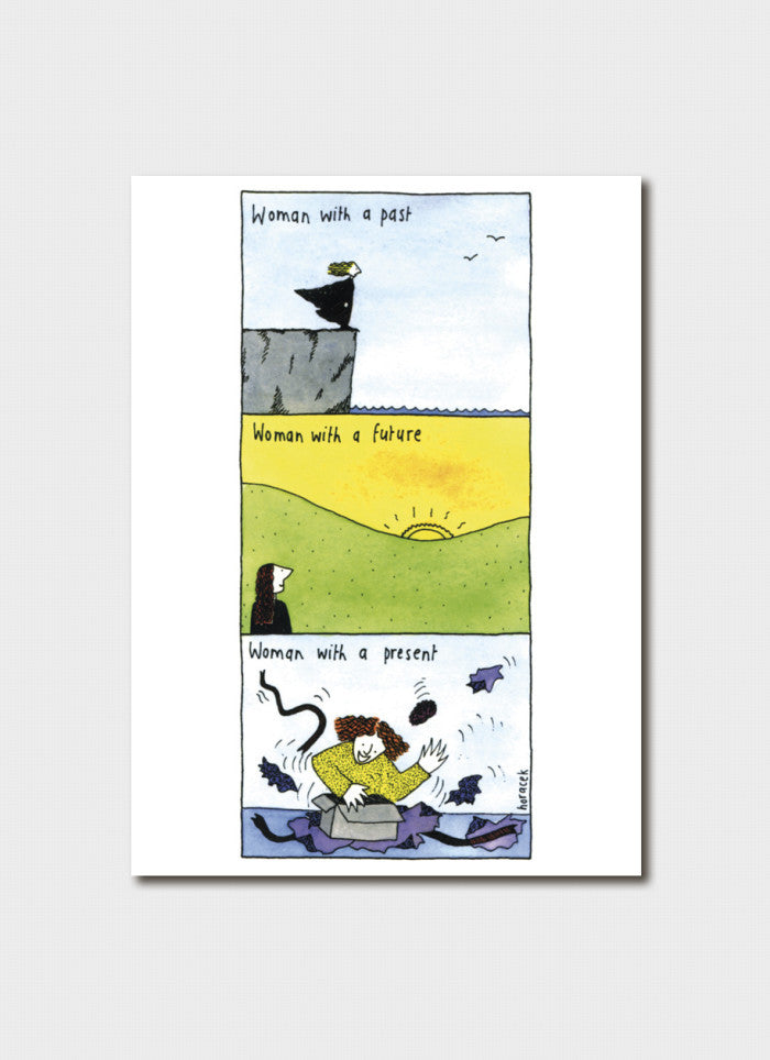 Judy Horacek cartoon card - Woman With a Past (New!)
