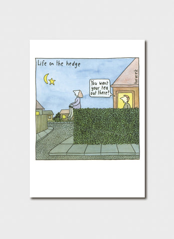 Judy Horacek cartoon card - Life on the Hedge (New!)