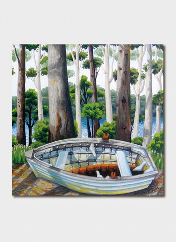 Annie Franklin Art Card - Dry Dock Lake Wapengo
