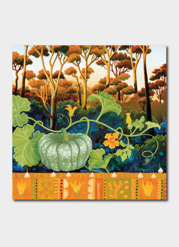 Annie Franklin Art Card - Pumpkin Dahl